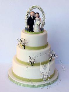 Hochzeitstorte mit Figur von www.tortenfiguren.at - Weddingcake with Weddingcaketopper Desserts, Beauty, Frogs, Cakes, Ideas, Bon Appetit, Dekoration, News, Tailgate Desserts