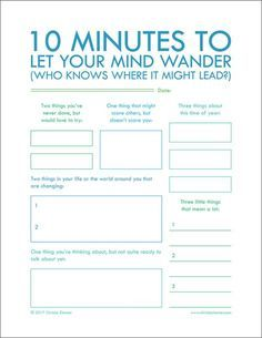 """Minutes To Let Your Mind Wander"""" - Printable Journal Pages to help you put your thoughts into words. Journal writing is an important step in not only understanding yourself but also improving your relationships. Journal Writing Prompts, Writing Tips, Creative Writing, Writing Challenge, Journal Ideas, 7th Grade Writing Prompts, Essay Prompts, Planner Journal, Pre Writing"""