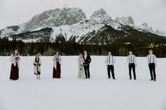 Beautiful winter wedding in Canmore. For their wedding photos we went to Quarry Lake Canmore. To see more of this Canmore Wedding visit Teller of Tales Photography. Party Photos, Wedding Photos, Wedding Ideas, Quarry Lake, Lake Park, Park Weddings, Banff, Wedding Couples, Mountain