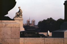 Ernst Haas A woman admiring a...Paris