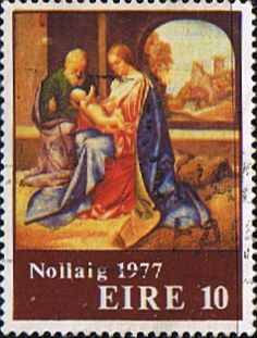 Decimal Postage Stamps of Eire Ireland 1977 Christmas Fine Used SG 417 Scott 424 Other European and British Commonwealth Stamps HERE!