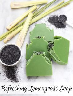 Refreshing Lemongrass Soap Kit /// Learn how to create your own natural soap from scratch using essential oils. #soapmakingforbeginners #naturalsoapmakingrecipes