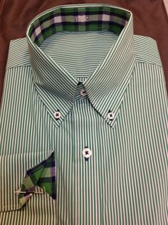 LOVE this shirt using two of our new Spring fabrics and contrast stitching on the buttons!  The extra details J. Hilburn gives your shirts can be so important.