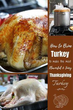 Turkey Brine that creates juicy turkey meat that is loaded with flavor. #Brining #TurkeyBrineRecipe #HowToBrineATurkey #TurkeyBrine #BrineRecipe #BestTurkeyBrine