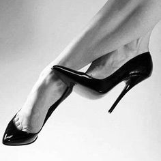OMG here's a really old shot from my Facebook days!! #Monochrome #Heels #HighHeels #Stilettos #Shoes #ShoeGame #ShoeGasm