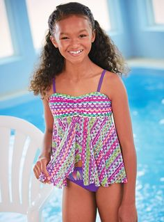 From CWDkids: Geo Print Tankini Swim Suit