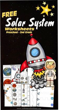 FREE Solar System Worksheets Preschool thru Second Grad