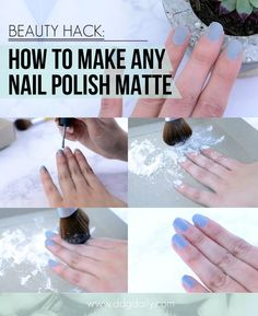 you can also get a clear top coat and put baby powder/corn starch in it for a matte top coat.