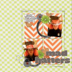 Mad Hatters scrapbook layout