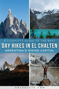 A complete guide to hiking in El Chalten Argentina | Trekking in El Chalten | El Chalten hiking | El Chalten trekking guide | Best day hikes in El Chalten Patagonia | Hiking in Argentina | Hiking in Patagonia | Best hikes in Patagonia | Best treks in El Chalten | Trekking en El Chalten | Where to stay in El Chalten camping | Things to do in El Chalten | El Chalten hikes to do | El Chalten day hikes | El Chalten camping guide | Argentina hike guide | Where to hike in South America hikes Backpacking South America, South America Travel, In Patagonia, Patagonia Travel, South America Destinations, Travel Advice, Travel Ideas, Travel Guide, Brazil Travel