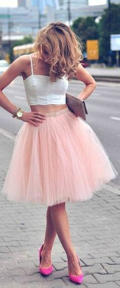 """Blush Tulle Skirt ♥  