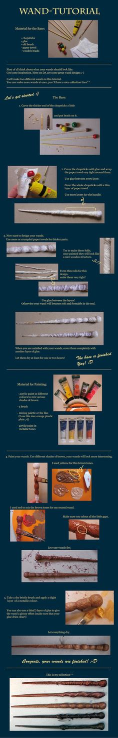 Whoa, my very first tutorial, so please be kind. How to make H.P. inspired wands I hope this Tutorial helps you. Share your wands with me, I would love to see them.