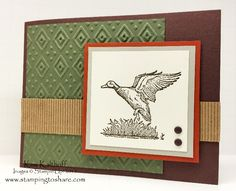 The Wilderness Awaits with How To Video, Stampin' Up!, Kay Kalthoff, Nature Cards, Masculine, Manly Card, #stampingtoshare