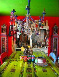 Interior Design Boho Green love the colors. Home Decor Interior Design Gypsy Decor, Bohemian Decor, Bohemian Gypsy, Gypsy Style, Bohemian Homes, Hippie Chic, Living Colors, Sweet Home, Deco Boheme