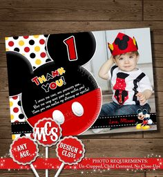 HUGE SELECTION Mickey Mouse, Thank You card, My Celebration Shoppe, Printable, Thank You, Thank You Insert, Thank You Card, Birthday Card by MyCelebrationShoppe on Etsy https://www.etsy.com/listing/184239973/huge-selection-mickey-mouse-thank-you