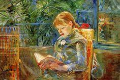 Petite fille, toile de Berthe Morisot en 1870