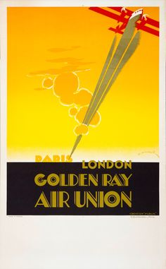 Golden Ray - Lithograph in colors with golden metallic effect