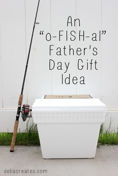 delia creates: An o-FISH-al Fathers Day Gift Idea for your fish loving guy + a free printable!