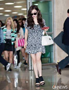 snsd girls generation airport fashion 2015 tiffany