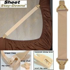 Bed Straps Or Fitted Sheet Suspenders Designed To Simply
