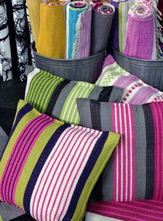Vallila, Kivinokka and Pornainen cushions and rugs