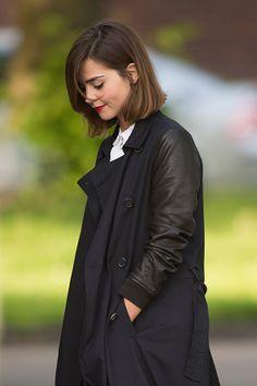 Doctor Who on location Jenna-Loise Coleman (Clara Oswald)