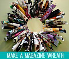 Magazine Wreath