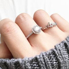 Cutie halo sterling silver ring - imsmistyle