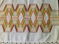 @ Swedish Embroidery, Embroidery Art, Embroidery Patterns, Huck Towels, Swedish Weaving Patterns, Monks Cloth, Bargello, Darning, Easy Crafts