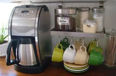 Coffee Station- simple yet complete... until we get the espresso machine!