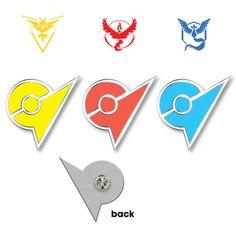 Pokémon GO - TEAM VALOR / MYSTIC / INSTINCT - Gym Badge from Just Peachy