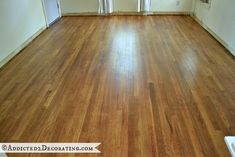 My DIY Refinished Hardwood Floors Are Finished! - Addicted 2 Decorating®
