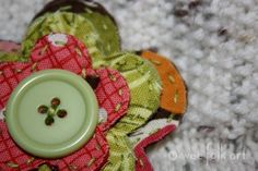Tutorial: Frayed fabric flower by Kimara of Wee Folk Art