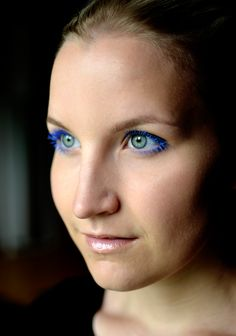 Blue mascara, via Nude
