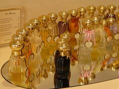 Annick Goutal - I feel pretty just using the bottles!  Passion is my favorite, followed by Eau du Sud as a lightweight summertime fragrance.  Songes is lovely too...