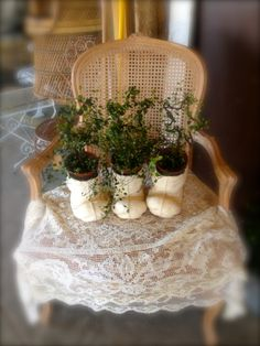 Zen Cowgirl Fancy chair with star topiary!