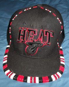 buy popular 99c9a a8727 Miami Heat Mitchell Ness Hat Custom beaded Snapback NBA Finals Team Cap   MiamiHeat
