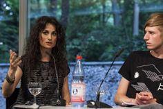 Poesiegespräch: Yolanda Castano und Kristoffer Cornils (c) Mike Schmidt