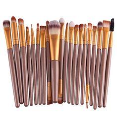 Pinceau de Maquillage, Yistu Lot de 20 Professionnel Pinceaux de Maquillage / Brush Cosmétique Beauté & Make-up Manche en Bois: Description…