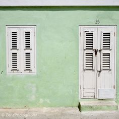 ysvoice:| ♕ |  Caribbean green house  | by © Zenz Photography | via lalu-na #mint #green #architecture