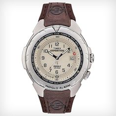 Shop for Timex Men's Expedition Easy Set Alarm Brown Leather and Nylon Strap Watch. Get free delivery On EVERYTHING* Overstock - Your Online Watches Store! Timex Watches, Big Watches, Casual Watches, Luxury Watches, Cool Watches, Watches For Men, Timex Expedition, Brown Leather Strap Watch, Mens Fashion