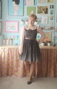 I love the Peter Pan collar under a dress