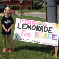 """And now for your inspiring story du jour:A little girlis challenging the hate-mongering Westboro Baptist Church (of """"God hates fags"""" infamy) by selling pink lemonade outside the group's headquarters in Kansas. Jayden, 5, decided to raise funds for Planting Peace, a nonprofit, by setting up a lemonade stand at the Equality House, a rainbow-striped nonprofit building directly across the street from the controversial church."""