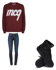 """""""Untitled #8714"""" by melodyleighmitchell on Polyvore featuring McQ by Alexander McQueen, Frame Denim and Supra"""