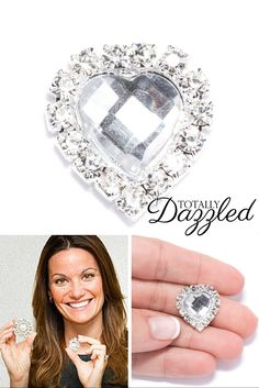 #weddingbling Find what you're looking for at totallydazzled.com! Make your wedding day sparkle with our wide variety or rhinestone products. This piece is only $0.97! Visit us online today!