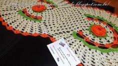 Artesanatos em Crochês Vanda: CAMINHO OU TRILHO PARA MESA COM ROSAS