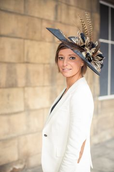 rose young designs kate pheasant feather saucer hat, £200.00