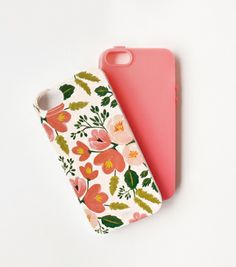 Botanical Rose iPhone 5 Case with a rubber insert. Love that it's safer than most covers and it has a beautiful design. $36 from Rifle Paper Co.