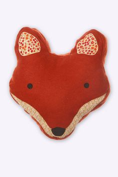 Paddy Fox Cushion.  I have also seen a felted fox rug with this same face - made in Nepal.