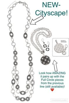 Cityscape with Full Circle / Premier Designs Jewelry